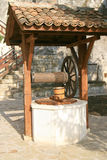 Old well at rock monastery Royalty Free Stock Photography