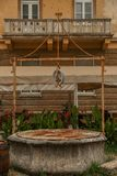 Old well in Zadar stock photo