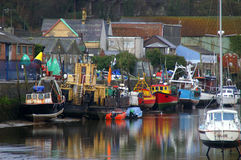 Old Welsh Harbor stock image