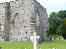 Old Welsh stone Abby. 13 century Abby ruins Royalty Free Stock Images