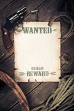 Old west background with wanted poster Royalty Free Stock Image