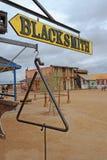 Old West Blacksmith Signage Stock Photography