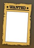 Old West card 02. Old West illustration, great for photo card Stock Photos