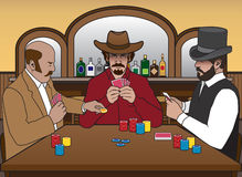 Old West Card Game Stock Image