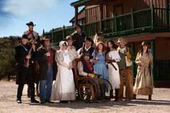 Old West Characters. Group of characters for an American old west theme Stock Photo