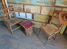 Old West Checkers Royalty Free Stock Photography