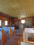 Old West Church Interior Royalty Free Stock Photo