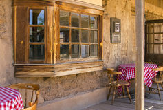 Old West Cowboy Mexican Cantina Saloon. Old Western town's Mexican food cantina restaurant in Arizona, United States Stock Image