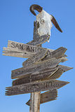 Old west directions Royalty Free Stock Photo