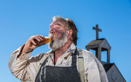 Old West Drunk Drinks Stock Photos