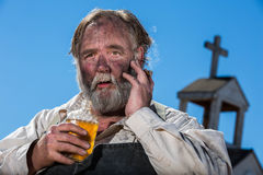 Old West Drunk Royalty Free Stock Image