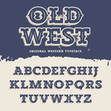Old West Font Stock Images