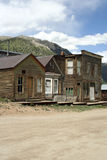 Old West Ghost Town. The remains of a ghost town in the Rocky Mountains. Many towns were built around the mining industry, and later abandoned Stock Image
