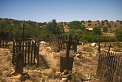 Old West Graveyard Stock Photo