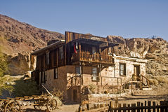 Old West Hotel. This is a picture of an old western hotel at Calico, California, a ghost town and San Bernardino County Park Royalty Free Stock Photography