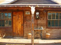 Old west house stock photography
