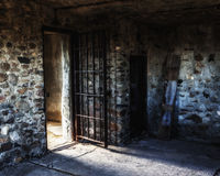 Old West Jail. A pioneer jail in Scenic, South Dakota Royalty Free Stock Image
