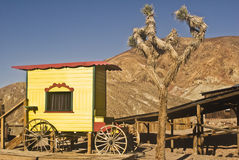 Old West Medicine Wagon. This is a picture of an old west medicine wagon from Calico, California, a ghost town and San Bernardino County Park Stock Photos