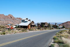 Old West Mining Town In The Desert Royalty Free Stock Images
