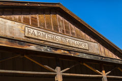 Old West Movie Set. A western cowboy town used as a movie set for television and cinema Stock Image