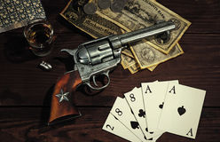 Old West Revolver royalty free stock images