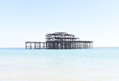 Old West rusting Pier in Brighton, UK Royalty Free Stock Photos