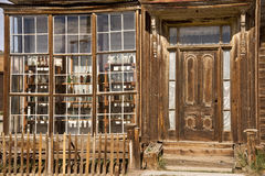 Old West Sore Front. The store fron of an old west apothecary shop in the Bodie California ghost town Royalty Free Stock Image
