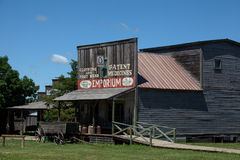 Old West Store. A old west store with a wagon beside it stock images