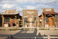 Old West storefronts, stock photography