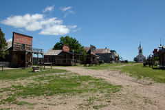 Old West Town. A view of an old west town in South Dakota royalty free stock images