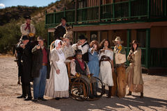 Old West Townspeople Stock Images