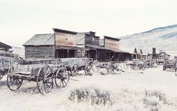 Old west, Old trail town, Cody, Wyoming, United States. Old Trail Town is a collection of historic western buildings and artifacts, dating from 1879–1901 Stock Images