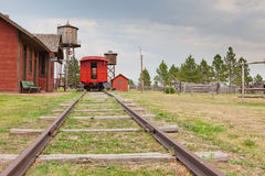 Old West Train Station Royalty Free Stock Image
