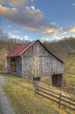Old West Virginia barn royalty free stock images