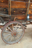 Old West Wagon and Lantern Royalty Free Stock Photos