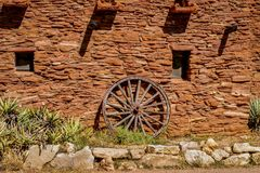 Old west Wagon Wheel Stock Image