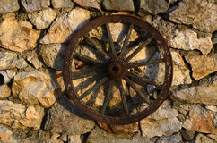Old West Wagon Wheel Stock Photo