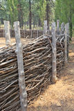 Old West Willow Corral Royalty Free Stock Images