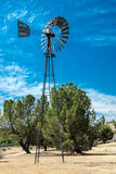 Old West Windmill Stock Photo