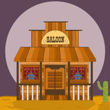 Old western building - sheriff. Vector illustration of an old western building - sheriff office Stock Image
