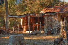 Old Western Cabin 2 Royalty Free Stock Photos