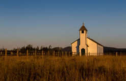 Old Western Church at sunset Royalty Free Stock Photos