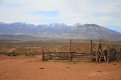 Wild Wild West , isolated corral Royalty Free Stock Photo