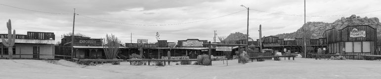 Old Western Cowboy Steakhouse Pano Royalty Free Stock Images