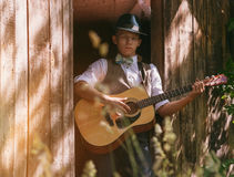 Old western film style young man portrait Royalty Free Stock Photography
