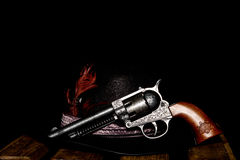 Old western gun. In close ups Royalty Free Stock Photo