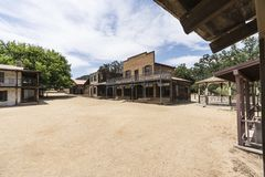 Old Western Movie Town Buildings. Historic movie set buildings owned by US National Park Service at Paramount Ranch in the Santa Monica Mountains National Royalty Free Stock Photo