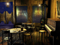 Free Old Western Saloon Stock Image - 58032721