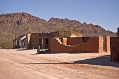 Old Western Street. This is a picture of an old western adobe street just outside of Tucson royalty free stock photo