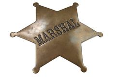 Free Old Western-style Marshal Badge Royalty Free Stock Image - 143648736